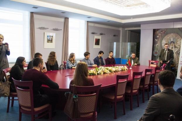 Встреча со студентами БГТУ в музее современной белорусской государственности, декабрь 2016